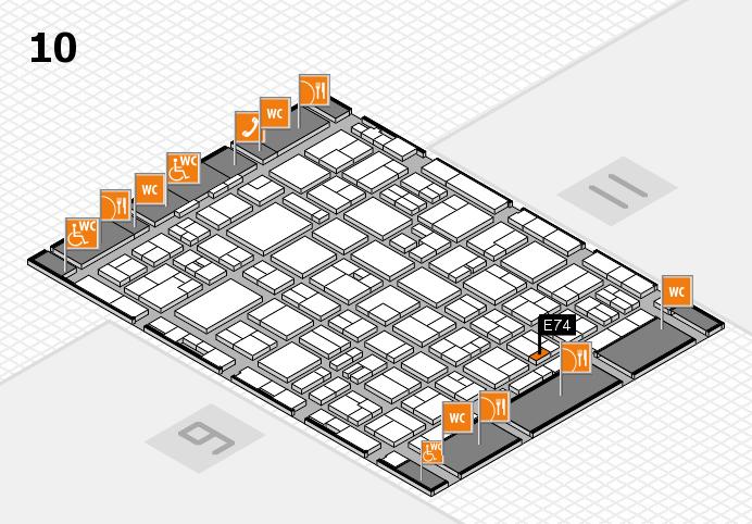 MEDICA 2016 hall map (Hall 10): stand E74