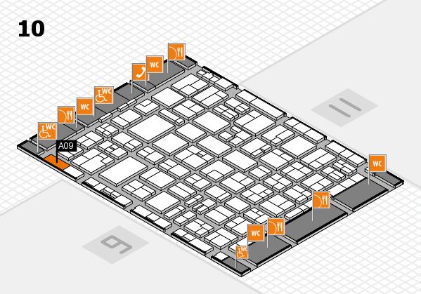 MEDICA 2016 hall map (Hall 10): stand A09