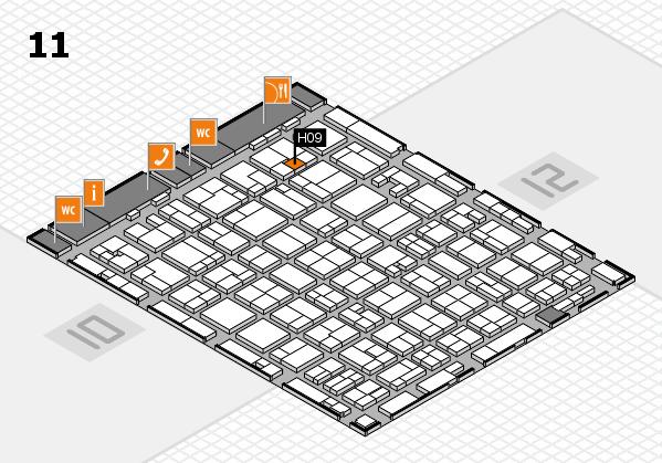 MEDICA 2016 hall map (Hall 11): stand H09