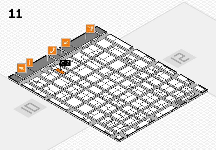 MEDICA 2016 hall map (Hall 11): stand C12