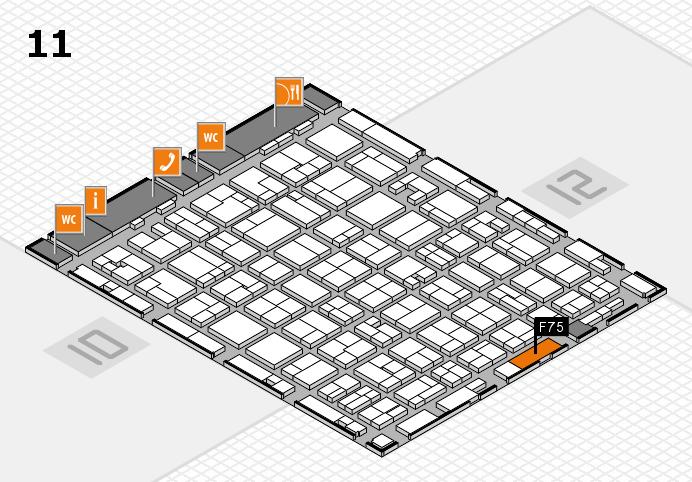 MEDICA 2016 hall map (Hall 11): stand F75