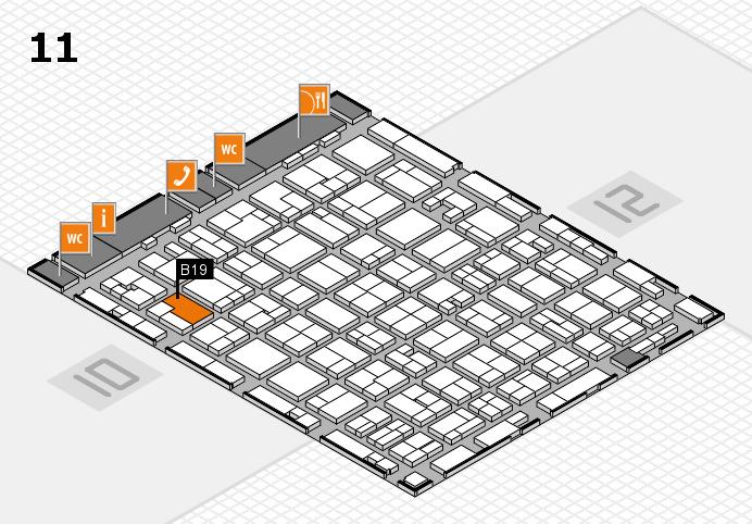 MEDICA 2016 hall map (Hall 11): stand B19
