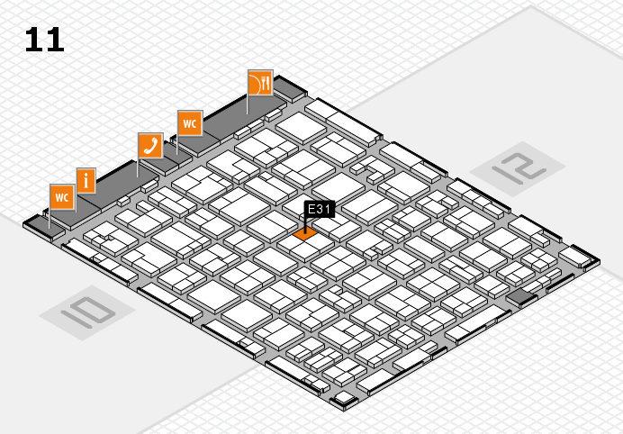 MEDICA 2016 hall map (Hall 11): stand E31