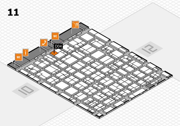 MEDICA 2016 hall map (Hall 11): stand D04