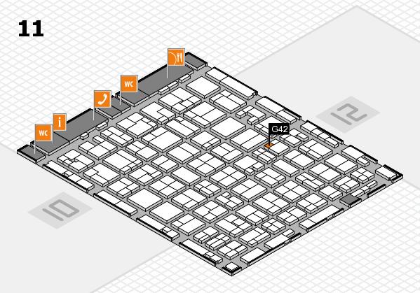 MEDICA 2016 hall map (Hall 11): stand G42