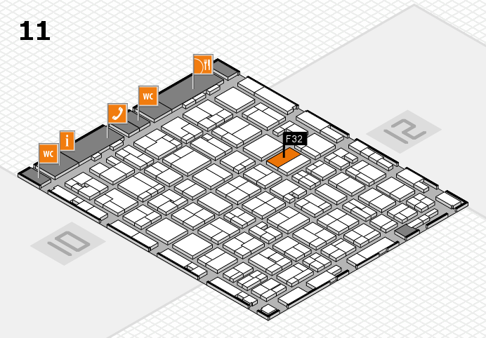 MEDICA 2016 hall map (Hall 11): stand F32