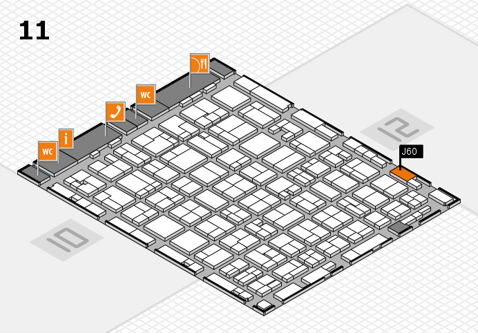 MEDICA 2016 hall map (Hall 11): stand J60