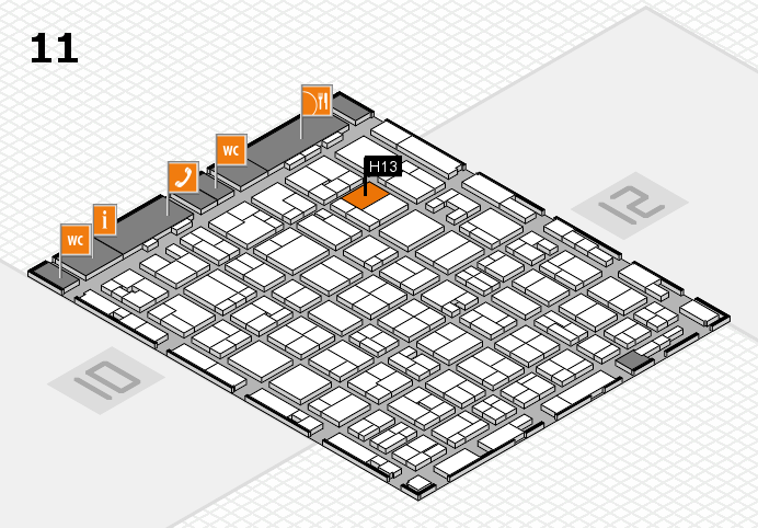 MEDICA 2016 hall map (Hall 11): stand H13