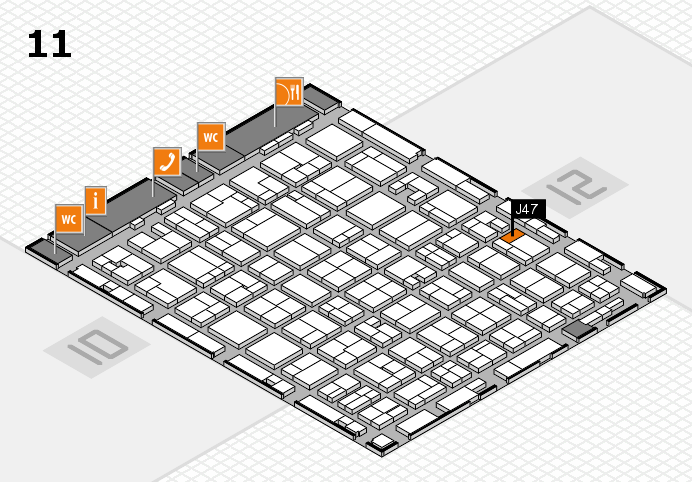 MEDICA 2016 hall map (Hall 11): stand J47