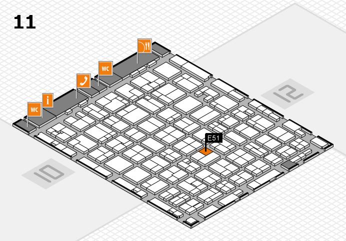 MEDICA 2016 hall map (Hall 11): stand E51