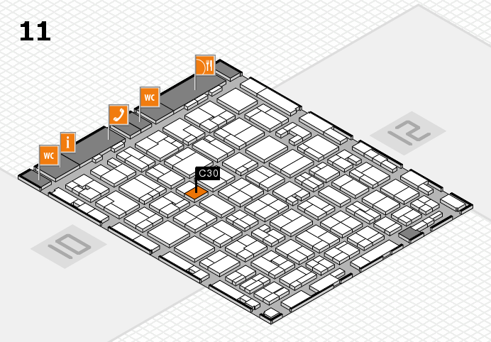 MEDICA 2016 hall map (Hall 11): stand C30