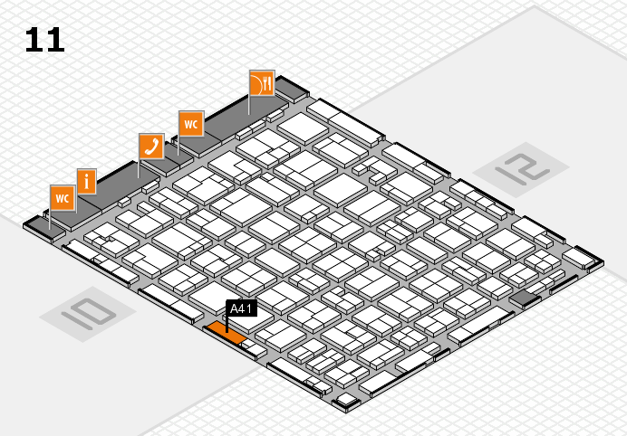 MEDICA 2016 hall map (Hall 11): stand A41