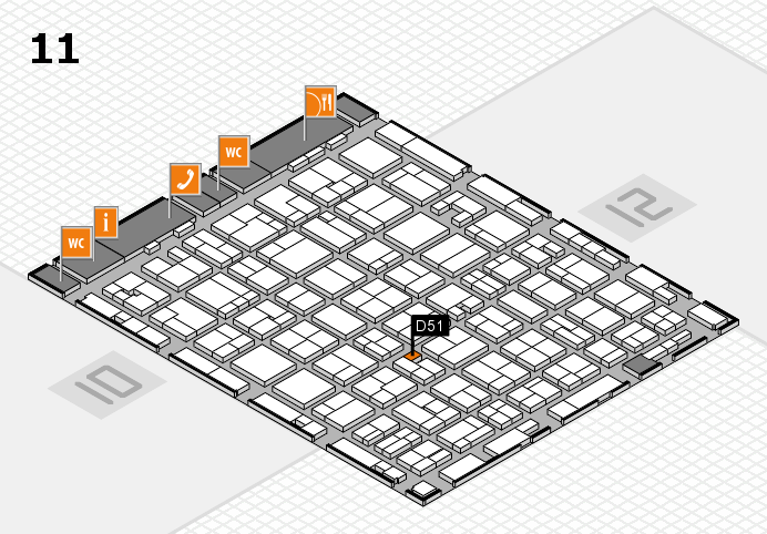 MEDICA 2016 hall map (Hall 11): stand D51