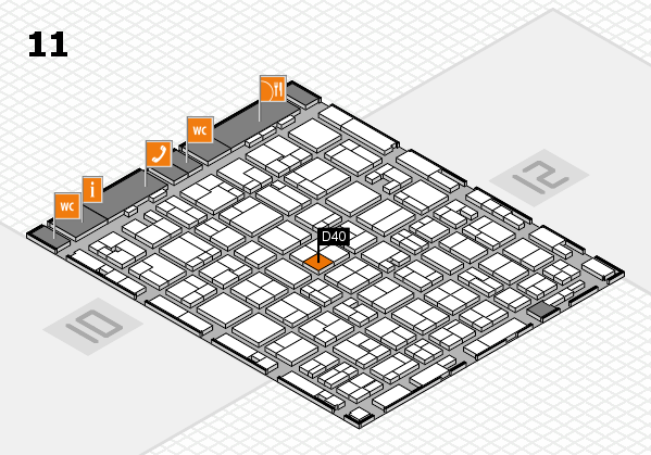 MEDICA 2016 hall map (Hall 11): stand D40