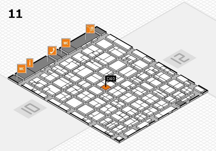 MEDICA 2016 Hallenplan (Halle 11): Stand D40