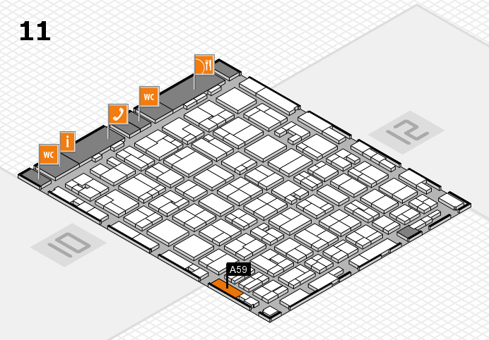 MEDICA 2016 hall map (Hall 11): stand A59