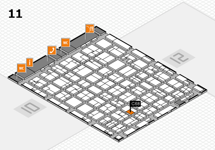 MEDICA 2016 hall map (Hall 11): stand C68
