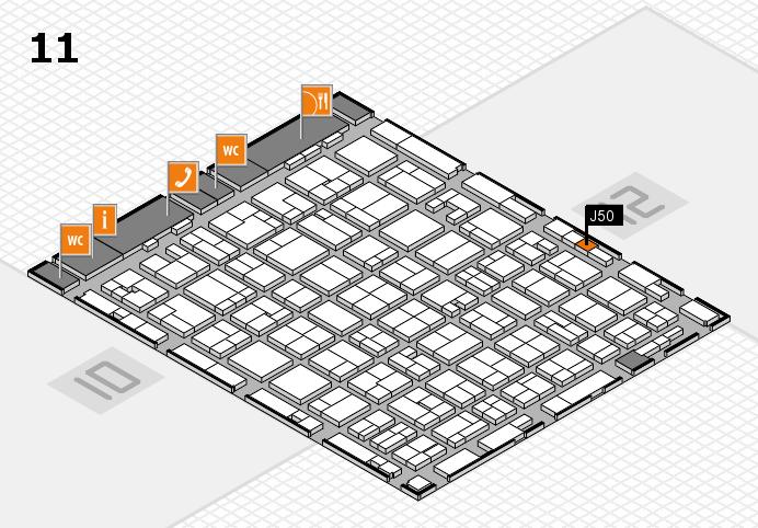 MEDICA 2016 hall map (Hall 11): stand J50