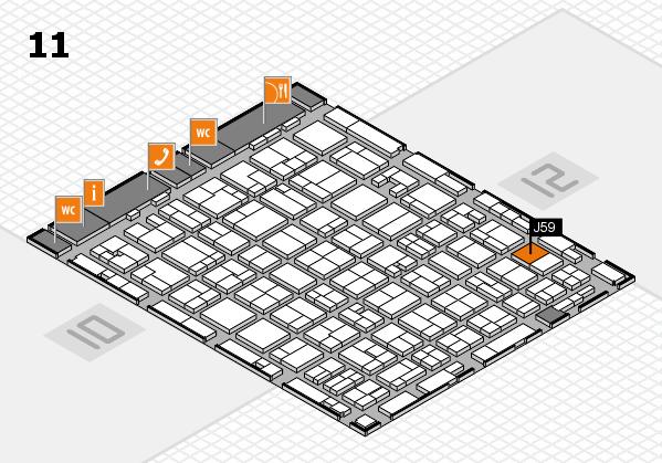 MEDICA 2016 hall map (Hall 11): stand J59