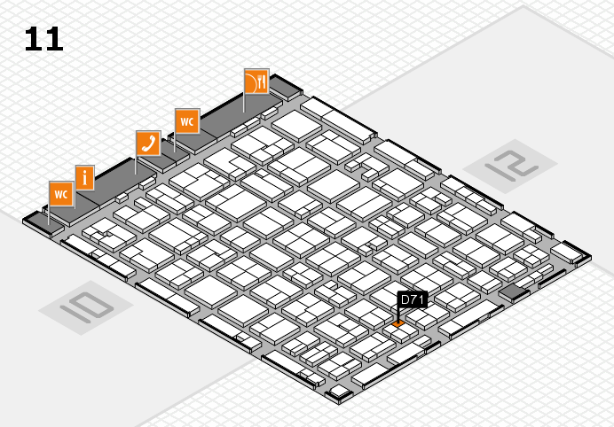 MEDICA 2016 hall map (Hall 11): stand D71