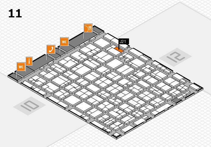 MEDICA 2016 hall map (Hall 11): stand J21