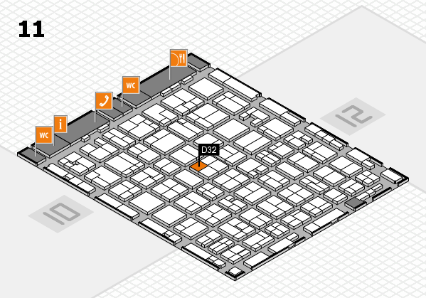 MEDICA 2016 hall map (Hall 11): stand D32