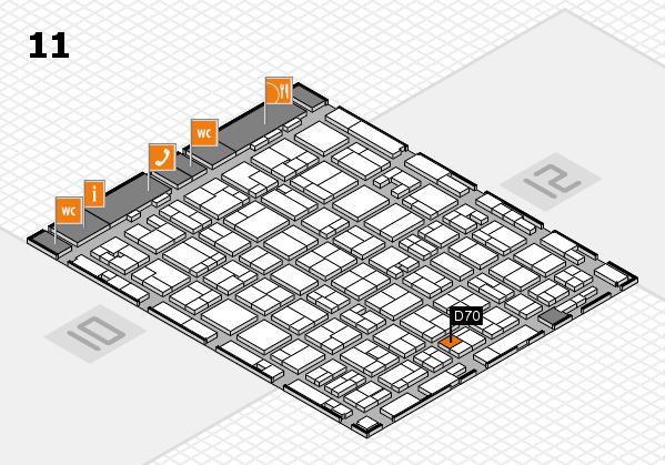 MEDICA 2016 hall map (Hall 11): stand D70