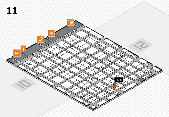 MEDICA 2016 hall map (Hall 11): stand D70