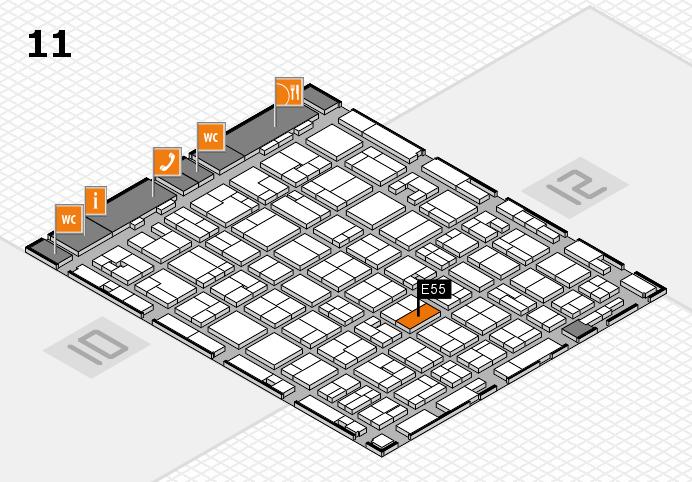 MEDICA 2016 hall map (Hall 11): stand E55