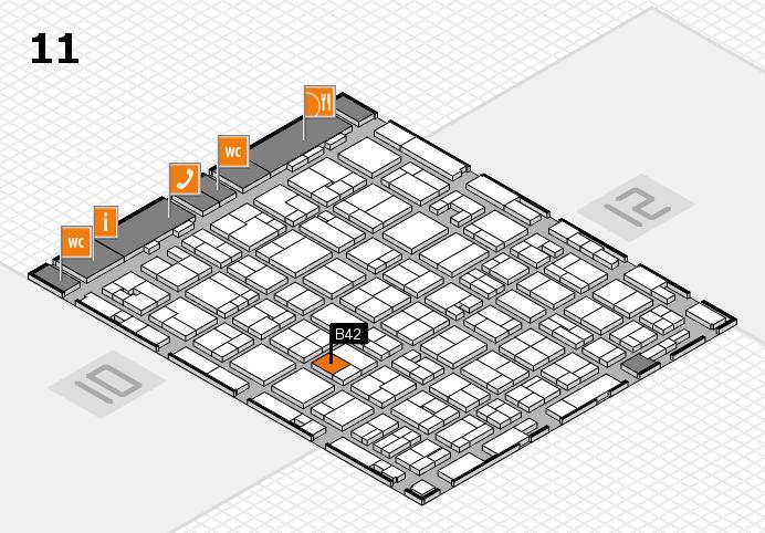 MEDICA 2016 hall map (Hall 11): stand B42