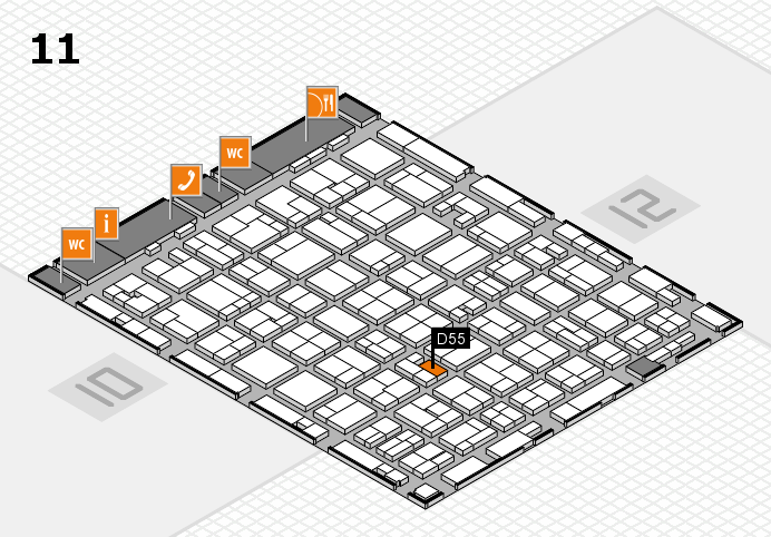MEDICA 2016 hall map (Hall 11): stand D55