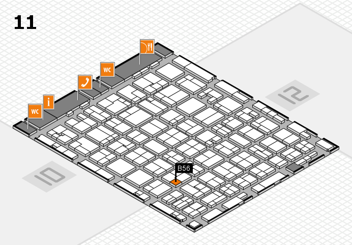 MEDICA 2016 hall map (Hall 11): stand B56