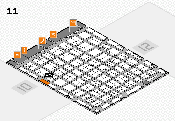 MEDICA 2016 hall map (Hall 11): stand A25