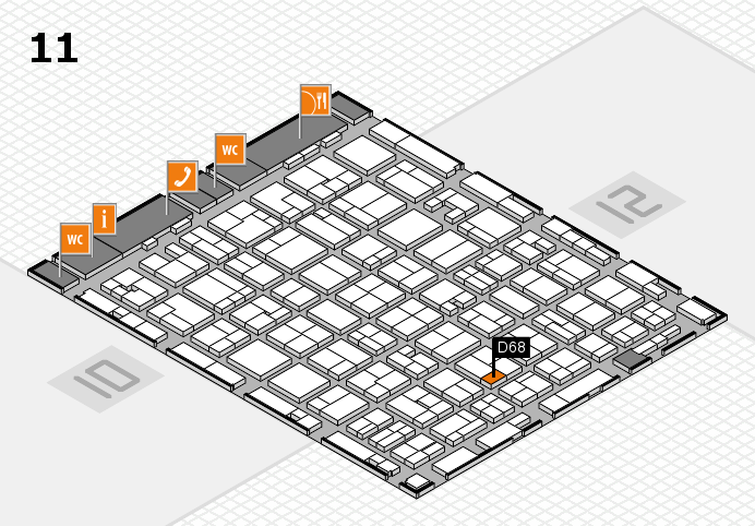 MEDICA 2016 hall map (Hall 11): stand D68