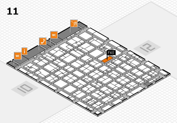 MEDICA 2016 hall map (Hall 11): stand F40