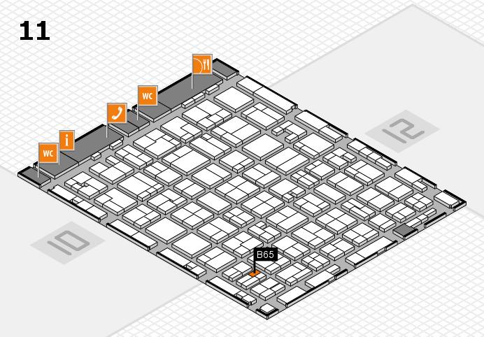 MEDICA 2016 hall map (Hall 11): stand B65