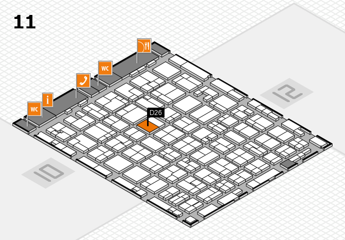 MEDICA 2016 hall map (Hall 11): stand D26