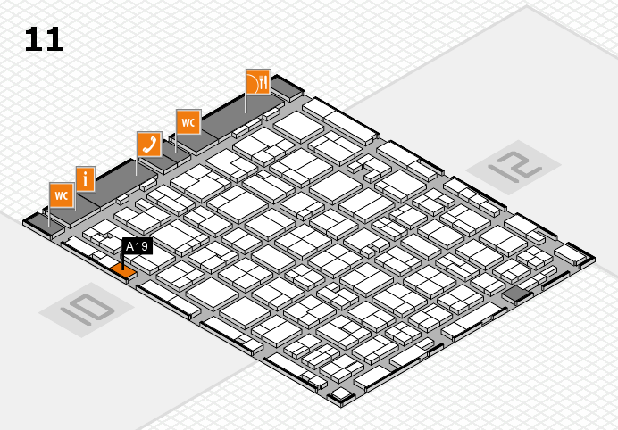 MEDICA 2016 hall map (Hall 11): stand A19