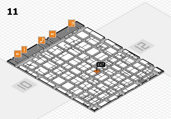 MEDICA 2016 hall map (Hall 11): stand E47