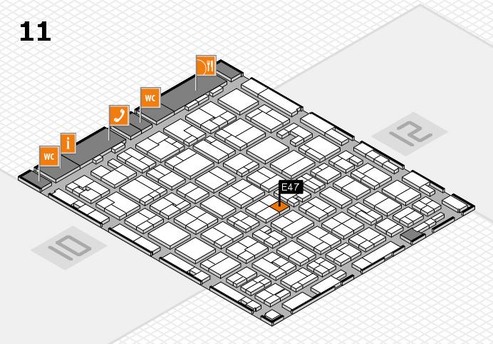 MEDICA 2016 Hallenplan (Halle 11): Stand E47