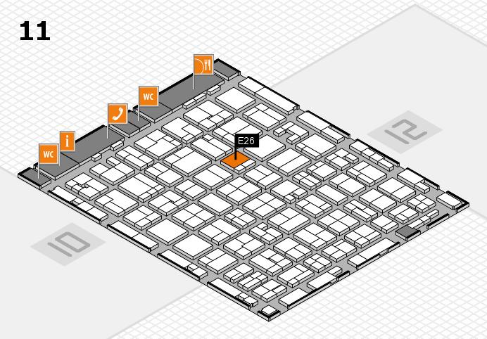 MEDICA 2016 hall map (Hall 11): stand E26