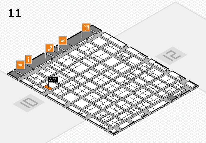 MEDICA 2016 hall map (Hall 11): stand A22