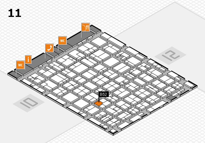 MEDICA 2016 hall map (Hall 11): stand B52