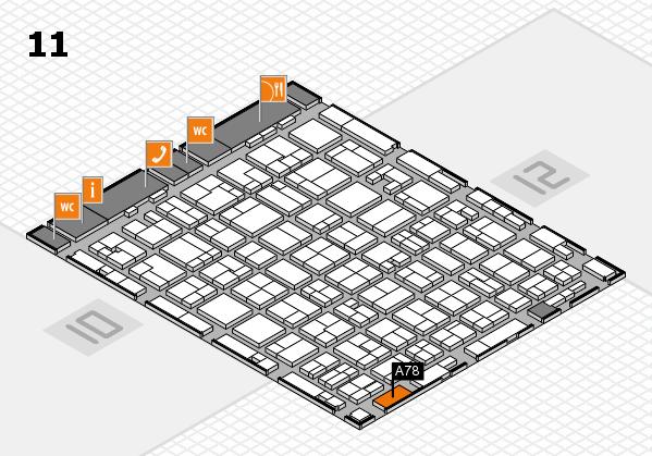 MEDICA 2016 hall map (Hall 11): stand A78