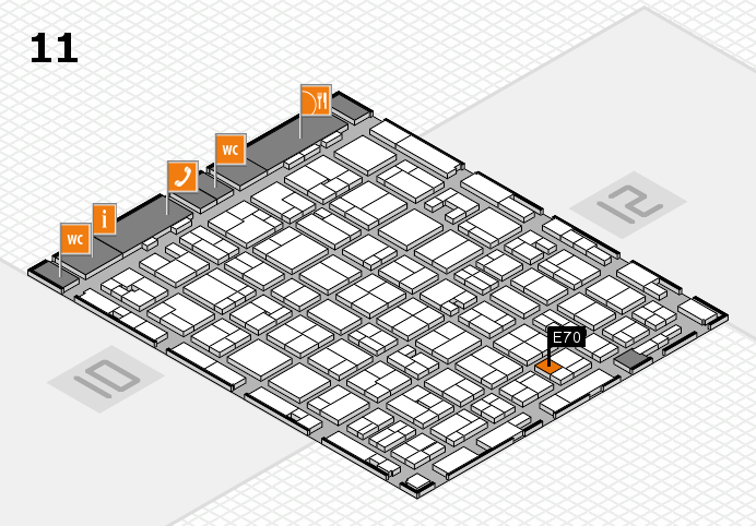 MEDICA 2016 hall map (Hall 11): stand E70