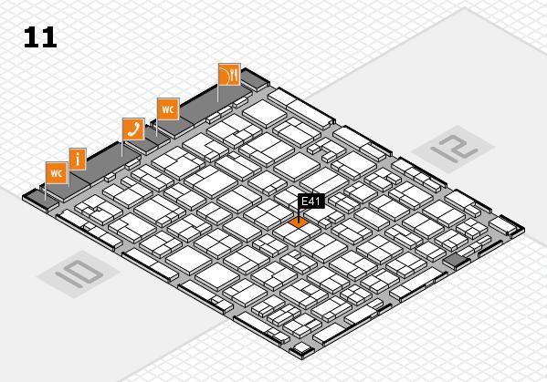 MEDICA 2016 Hallenplan (Halle 11): Stand E41