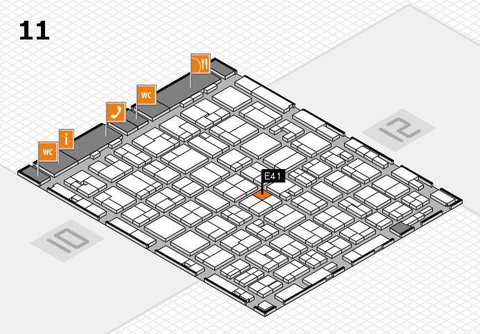 MEDICA 2016 hall map (Hall 11): stand E41