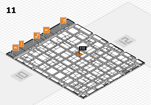 MEDICA 2016 hall map (Hall 11): stand E32