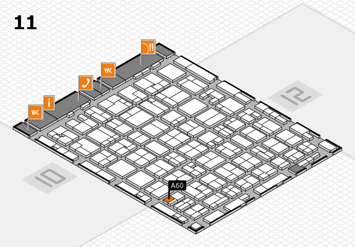 MEDICA 2016 hall map (Hall 11): stand A60
