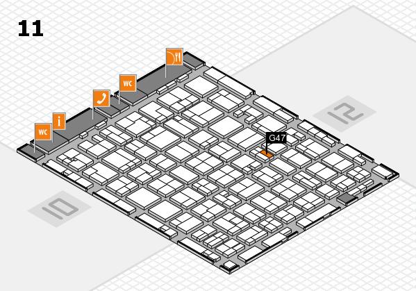 MEDICA 2016 hall map (Hall 11): stand G47
